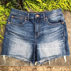 Madewell Medium Wash High Rise Jean Shorts Size 28